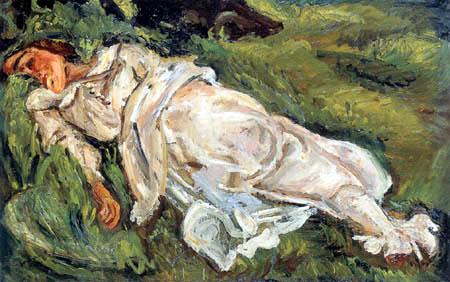 Chaim Soutine - Reclining Woman