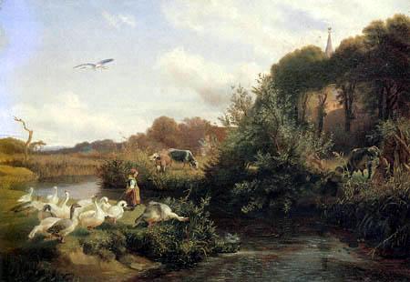 Otto Speckter - Goose pasture near Rahlstedt, Hamburg