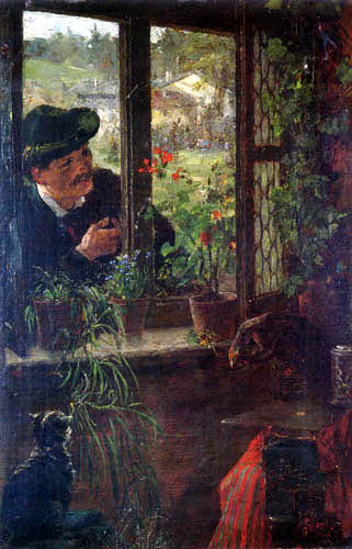 Johann Sperl - At the window