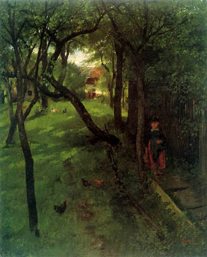 Johann Sperl - At the hedge