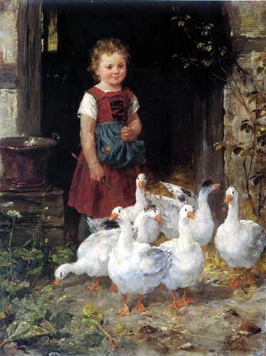 Johann Sperl - Geese maid