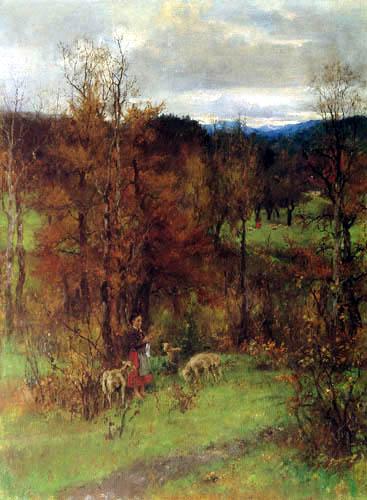 Johann Sperl - Autumn landscape