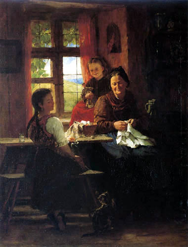 Johann Sperl - In grannies snuggery