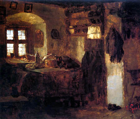 Johann Sperl - Interior of a kitchen