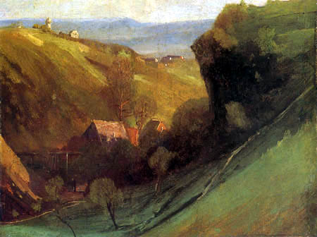 Johann Sperl - Landschaft mit Mühle