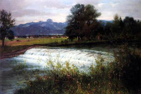 Johann Sperl - Mangfallwehr bei Kolbermoor