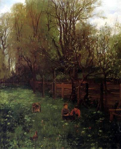 Johann Sperl - Fruit orchard in spring