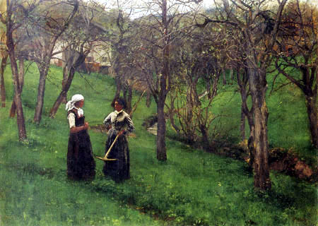 Johann Sperl - Fruit orchard in Kutterling (painted with W. Leibl)
