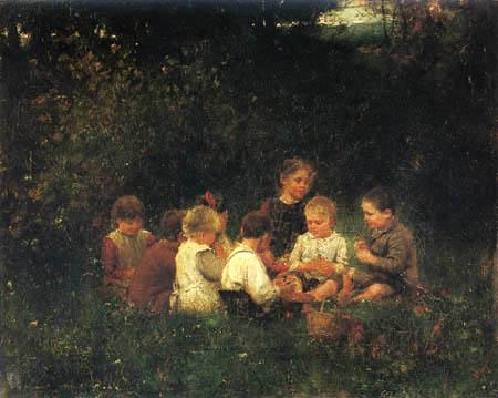 Johann Sperl - Playing children