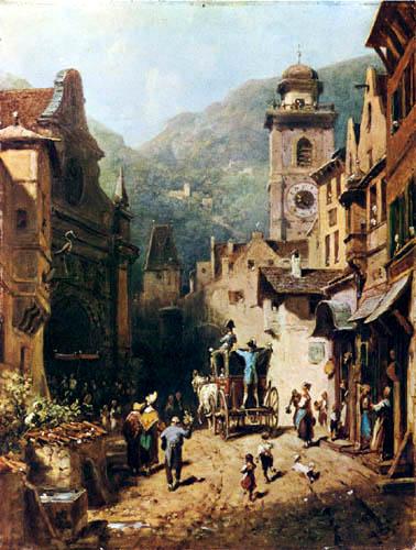 Carl Spitzweg - Der Besuch des Landesvaters