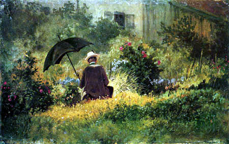 Carl Spitzweg - Der Maler im Garten