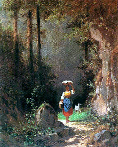 Carl Spitzweg - Girl with goat