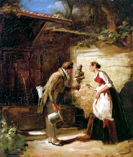 Carl Spitzweg - Looking for a wife
