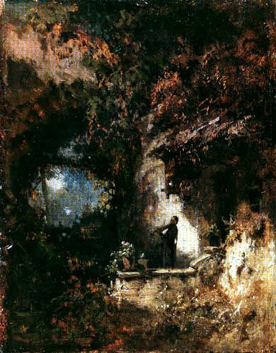 Carl Spitzweg - Violine spielender Einsiedler