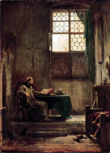 Carl Spitzweg - The monk in the study