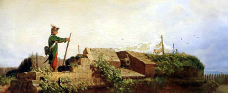 Carl Spitzweg - Yawning sentry on the bastion