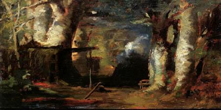Carl Spitzweg - The forest of Barbizon