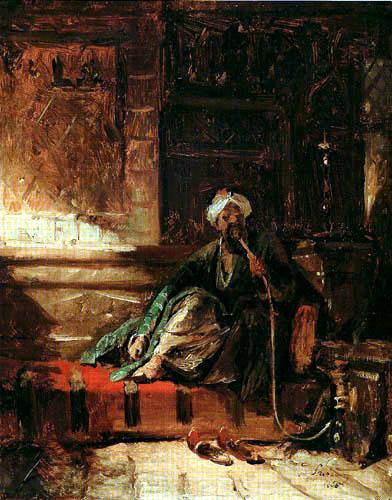 Carl Spitzweg - Smoking oriental on the sofa