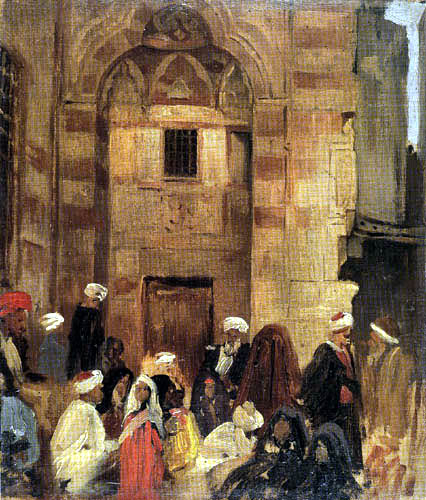 Carl Spitzweg - Front of the mosque