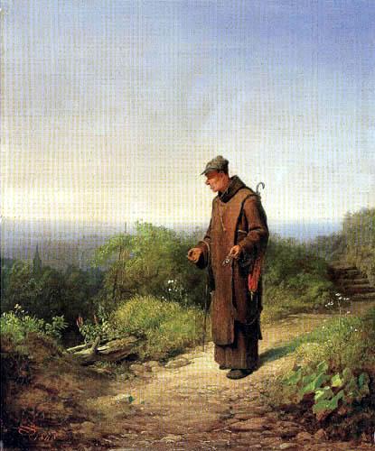 Carl Spitzweg - Amorous monk