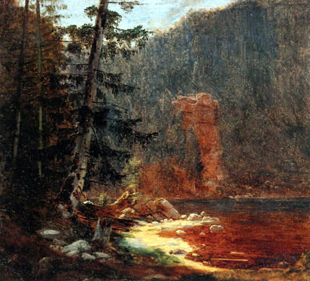 Carl Spitzweg - Rocky gorge with stream