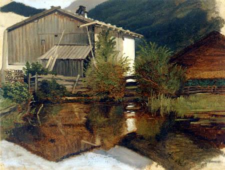 Carl Spitzweg - Sägewerk in Gern
