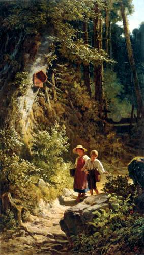 Carl Spitzweg - School children in the forest
