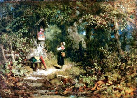 Carl Spitzweg - A praying farmer´s girl