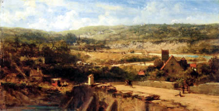 Carl Spitzweg - Frankish landscape