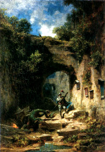 Carl Spitzweg - The Dragonslayer