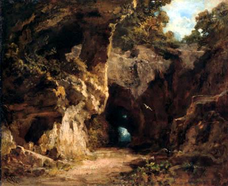 Carl Spitzweg - Weg in einer Felsenlandschaft