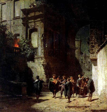 Carl Spitzweg - The Serenade