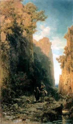 Carl Spitzweg - Die Flucht nach Ägypten