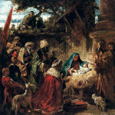 Carl Spitzweg - Birth of Jesus