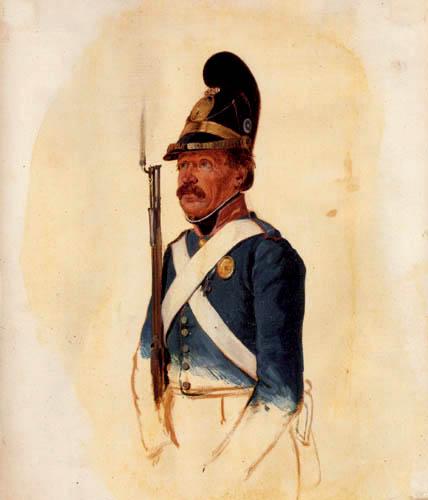 Carl Spitzweg - Bavarian soldier