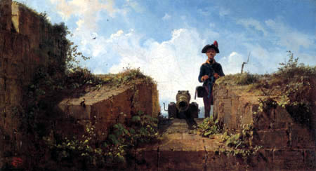 Carl Spitzweg - The knitting guard
