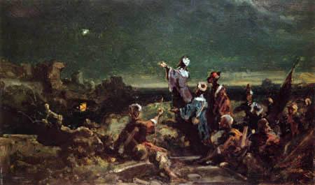 Carl Spitzweg - Der Stern von Bethlehem