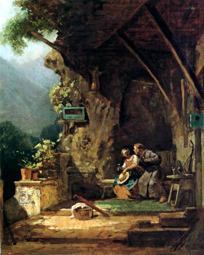 Carl Spitzweg - A Hermit fallen in love