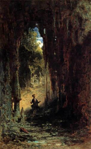 Carl Spitzweg - Der Geologe in der Grotte