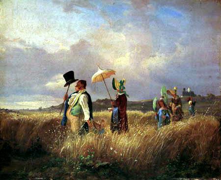 Carl Spitzweg - Der Sonntagsspaziergang