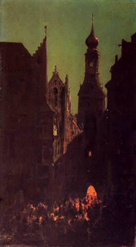 Carl Spitzweg - The Marienplatz in Munich