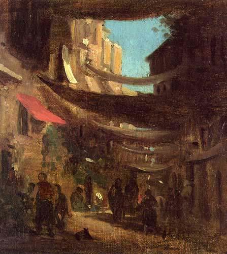 Carl Spitzweg - Oriental street scene