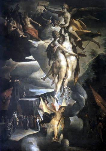 Bartholomäus Spranger - Fama führt die Künste in den Olymp