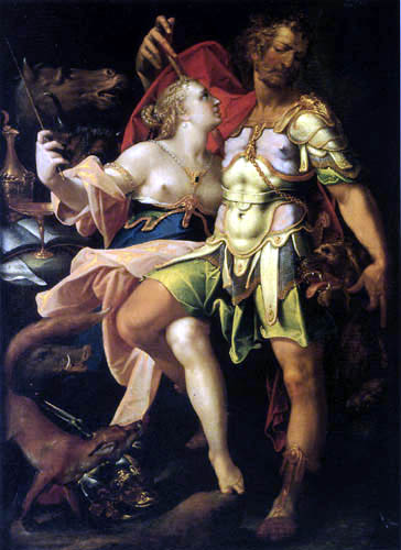 Bartholomäus Spranger - Odysseus and Circe