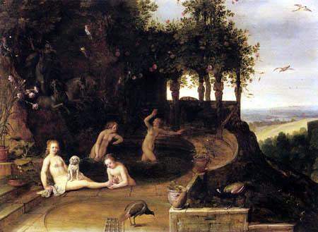 Adriaen van Stalbemt - Diana in the bath