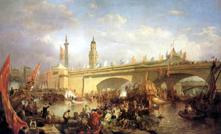 Clarkson Frederick Stanfield - The Opening of New London Bridge
