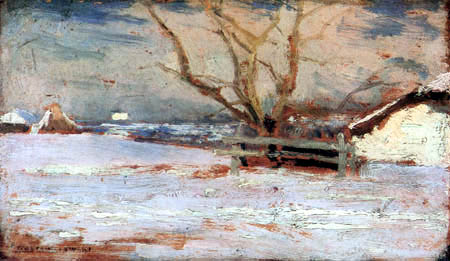 Jan Stanisławski - Paisaje de invierno