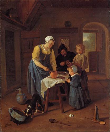 Jan Havicksz. Steen - Eine Bauernfamilie bei der Mahlzeit
