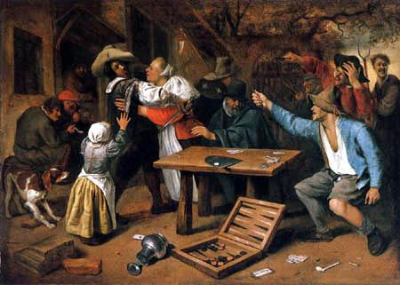 Jan Havicksz. Steen - Streit beim Kartenspiel
