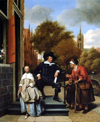 Jan Havicksz. Steen - Der Bürgermeister von Delft mit Tochter
